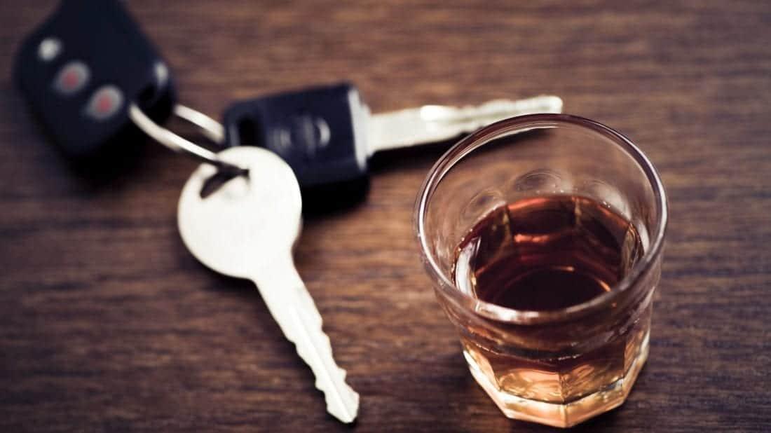 whisky and car keys